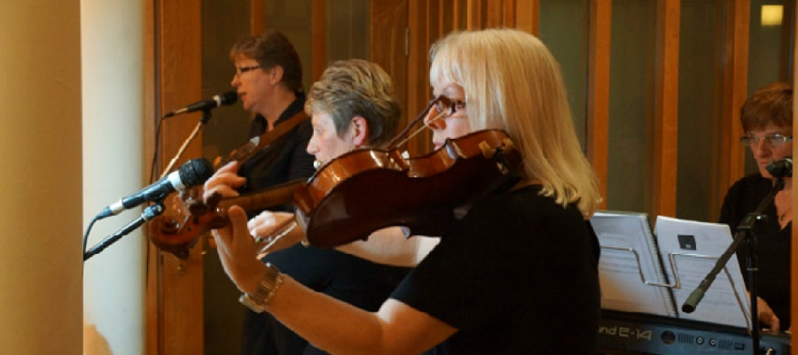 The Congregation's Musicians: Srs Marie, Frances, Ailish, Patricia