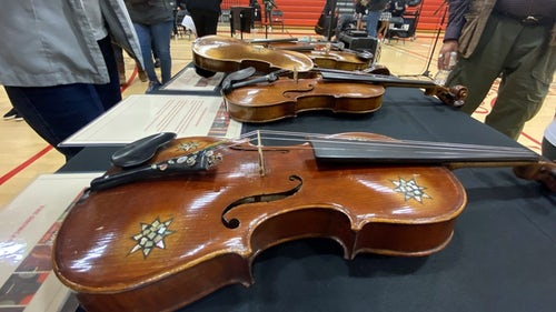 Holocaust-era violins visit S.F. Catholic School