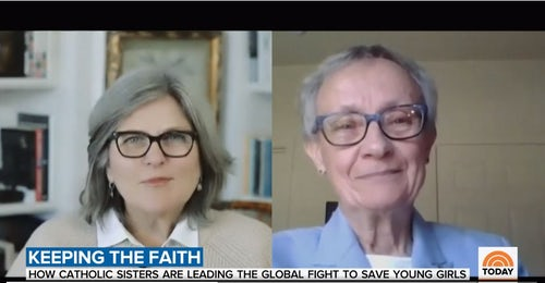 Mercy Sister Interviewed About Human Trafficking on Today Show