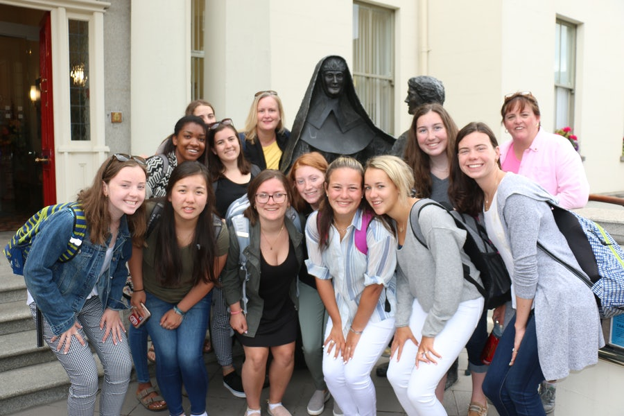 Pilgrim group from Gwynedd Mercy Academy High School, Pennsylvania