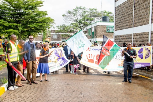16 Days of Activism Against Gender Based Violence at Mater Misericordiae Hospital Nairobi Kenya in 2019