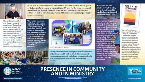 MGP Reflective Poster on 'Presence in Community & in Ministry'