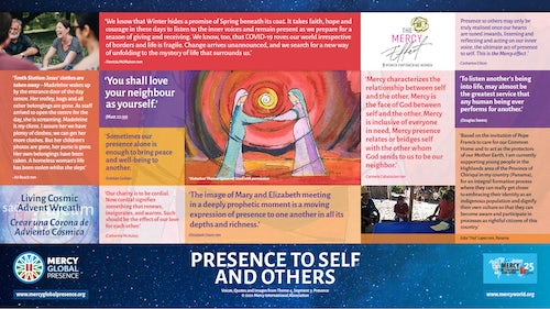 MGP Reflective Poster on 'Presence to Self & Others'
