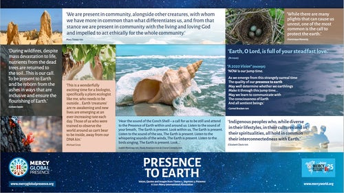 MGP Reflective Poster on 'Presence to Earth'