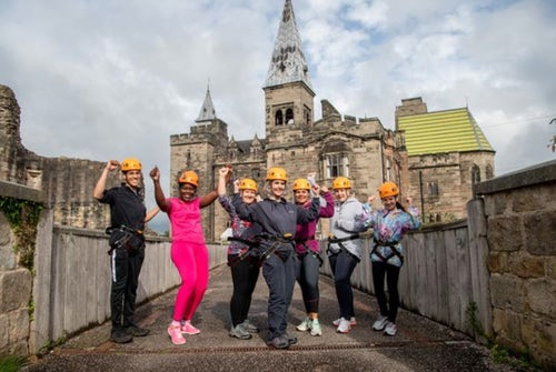 Sister of Mercy Abseils Down Castle to Stand Against Domestic Violence