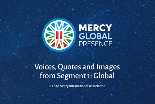 Reminder: Mercy Global Presence Reflective Posters and Guides