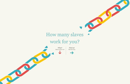 Check your slavery footprint