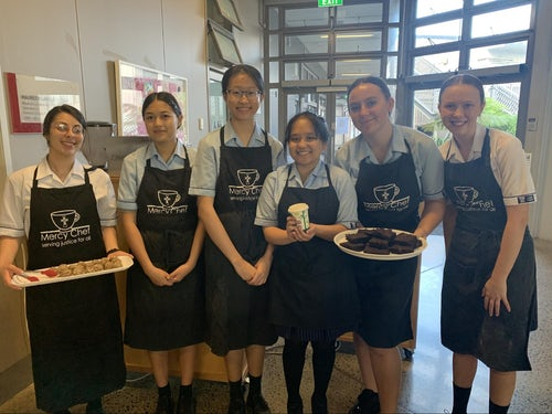 Carmel College Faith Cafe Diverting Compostable Packing Away from Landfill