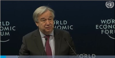 António Guterres (UN Secretary-General) at the World Economic Forum on the Middle East and North Africa (6 April 2019)