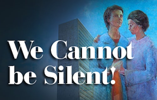 New Publication: We Cannot be Silent!