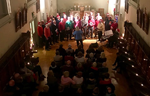 Carol Singing in the Baggot Street Chapel
