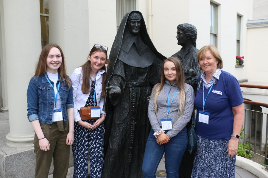 Pilgrim group from Our Lady's Grammar School Newry
