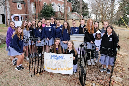 Mount St. Mary Academy (Little Rock, Arkansas) HoneyBelles Club Raises Money for Hive Aid in Australia