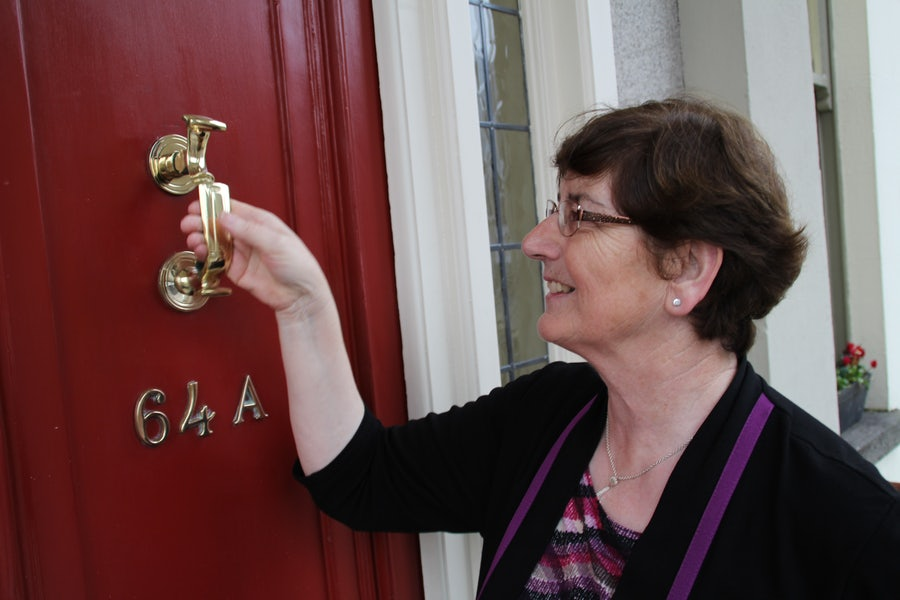 Caitlin Conneelly rsm, Ritually knocking on the Door of Mercy 2016