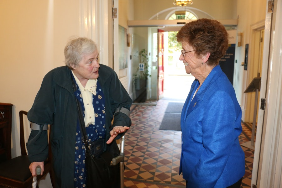 Sheila Lunney rsm (l) and Mary Mulholland rsm (r)