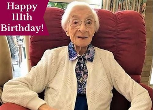 Happy 111th Birthday Sr Mary Aidan