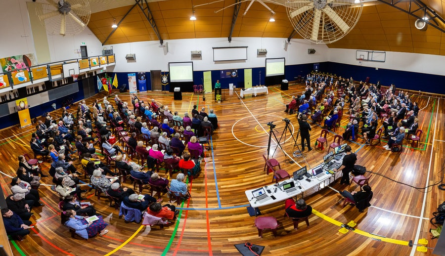 The Gathering in the College Gymnasium