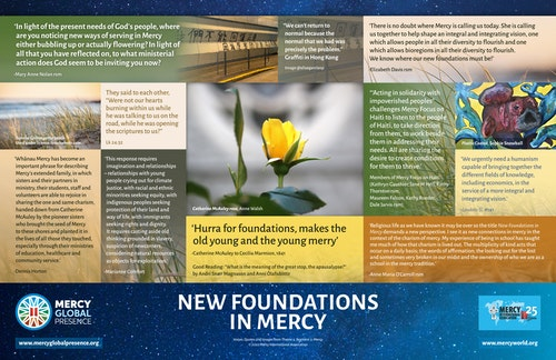 Global Contemplation on the Integrating Poster: New Foundations in Mercy