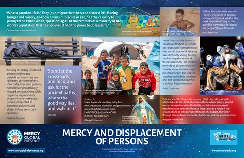 MGP Reflective Poster: 'Mercy & Displacement of Persons'