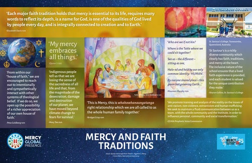 Global Contemplation on the Integrating Poster: 'Mercy and Faith Traditions'
