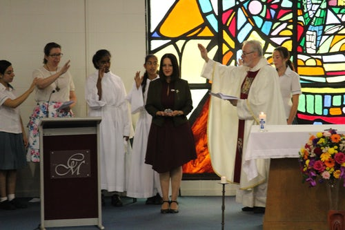Blessing and Commissioning of New School Principal at Opening School Mass