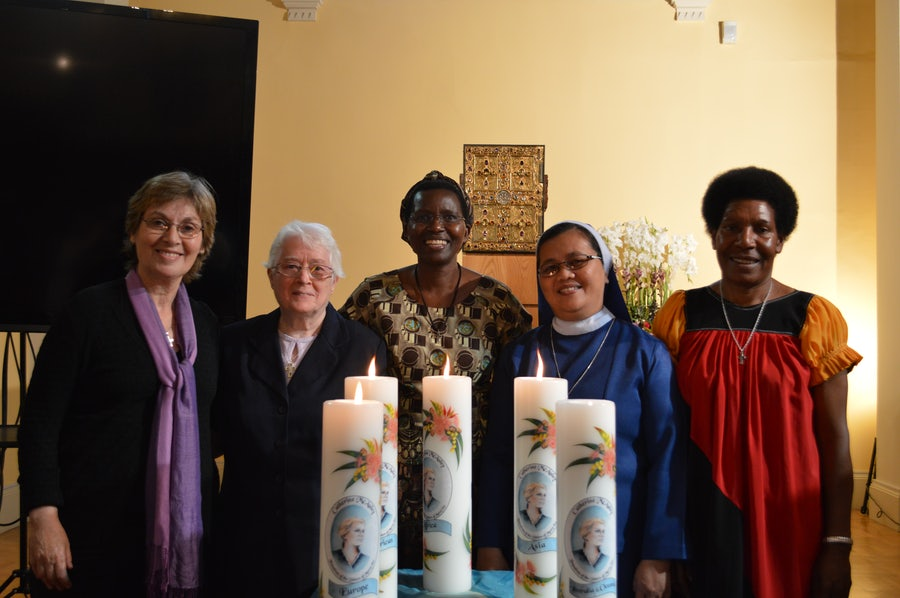 Sisters from each of the continents where Mercy has a presence, 20th Anniversary Closing ritual, 2014