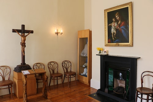 Invitation to join in a 1-hour virtual tour of the House of Mercy with Live Commentary