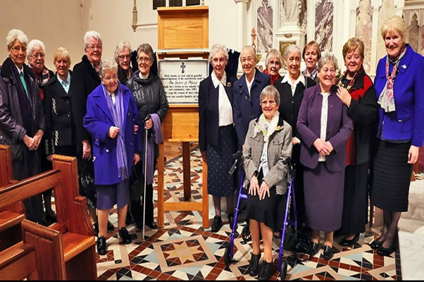 Sisters of Mercy Contribution Recognised By Muckno Parish (Castleblayney and Oram), Co. Monaghan