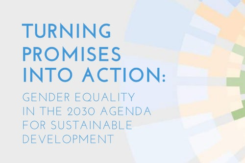 UN women places a Spotlight on Gender and the SDG's