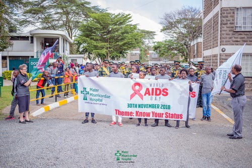 World AIDS Day at the Mater in Nairobi