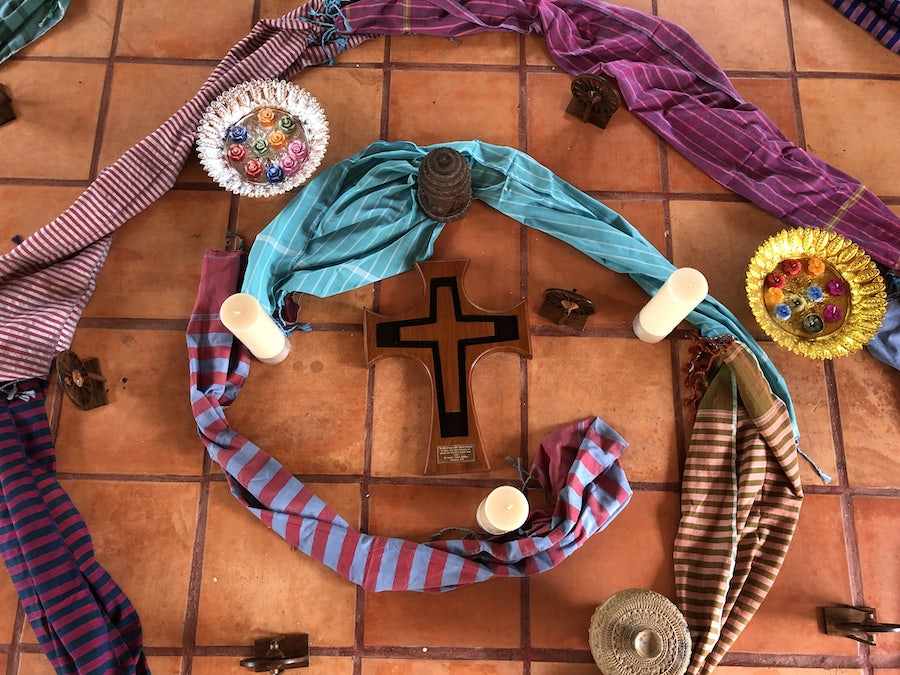 Centrepiece of opening ritual