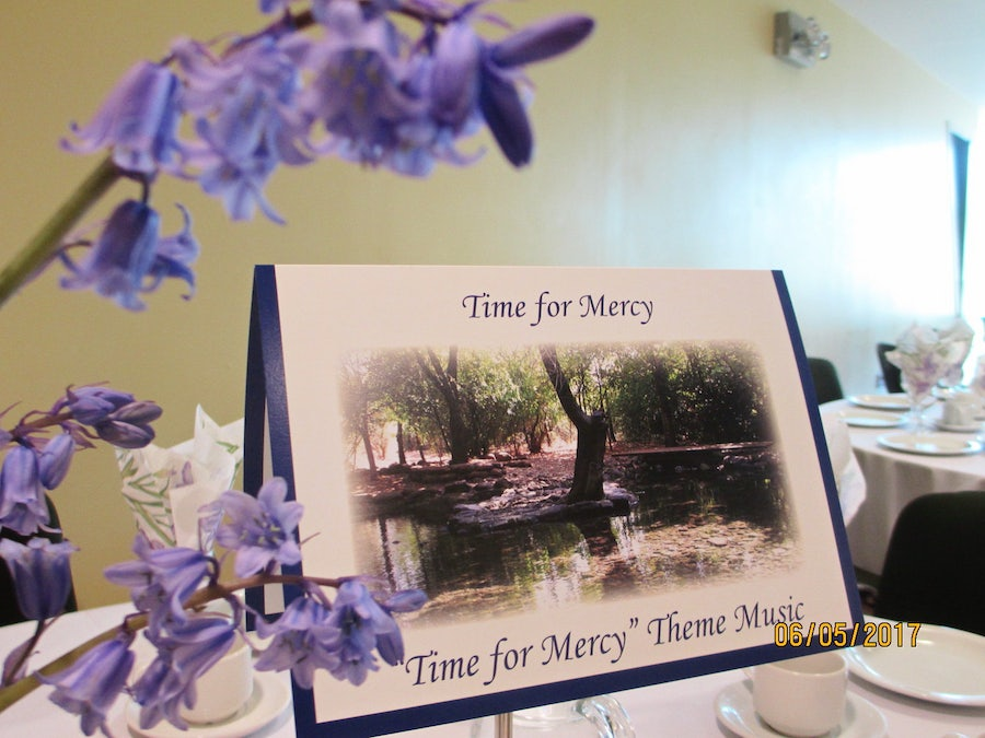 Time for Mercy table setting