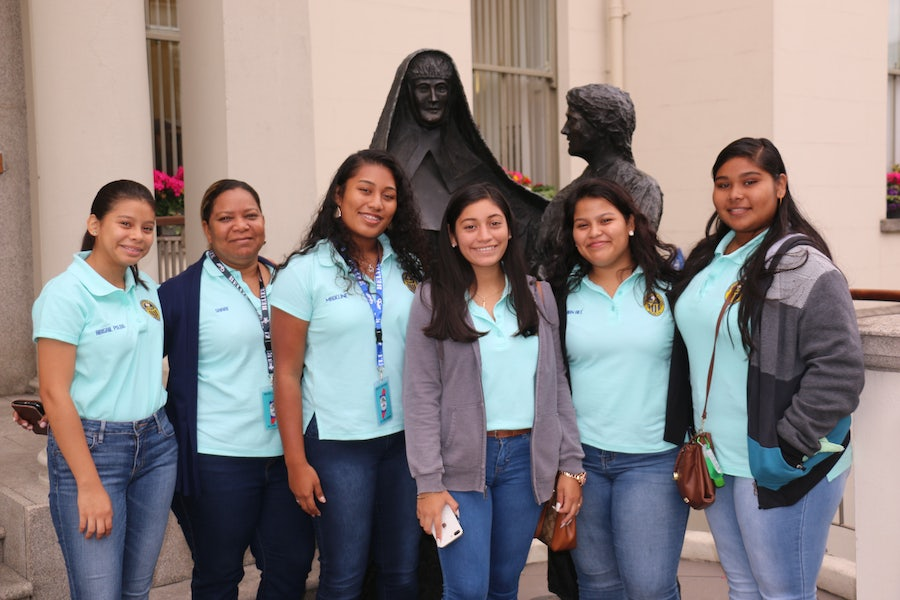 Pilgrim group from St Catherine's Academy Belize