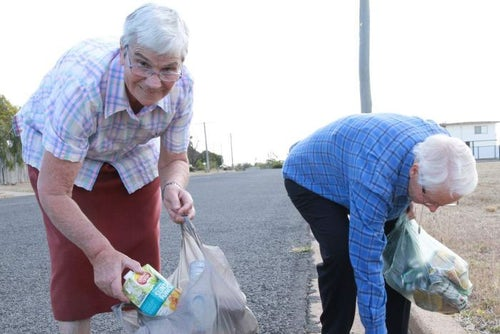 Waste warrior nuns' decade-long morning walk habit to collect scrap pays off with food for the needy