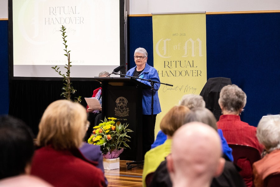 Kath Tierney rsm outlined the process by which the convent came to be offered to the College