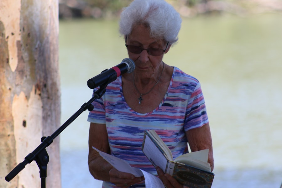 Carmel Setford rsm reads about the humility of water from John O'Donohue's poem