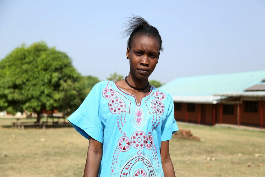 Josephine Kuol, 22 years old, current student at Solidarity Training Teachers College, Yambio, South Sudan
