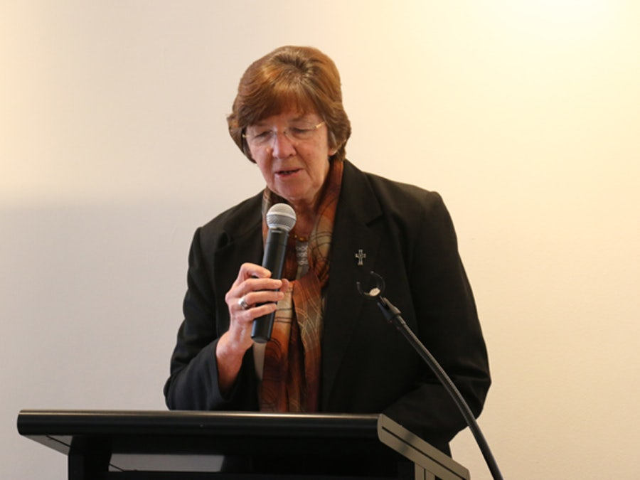 Elaine Wainwright rsm, Director of Mission & Ministry, broke open the Word