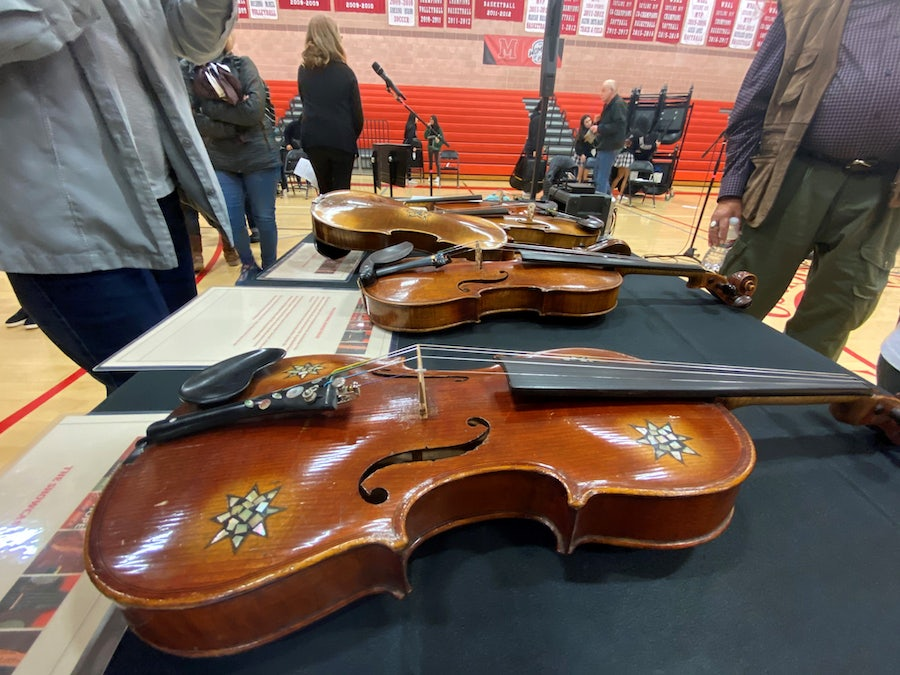 Holocaust-era violins on display at Mercy High School