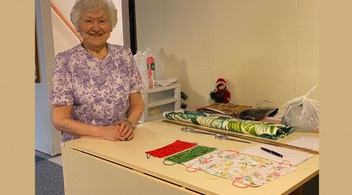 Woman in her 90s makes over 1,000 masks for hospital