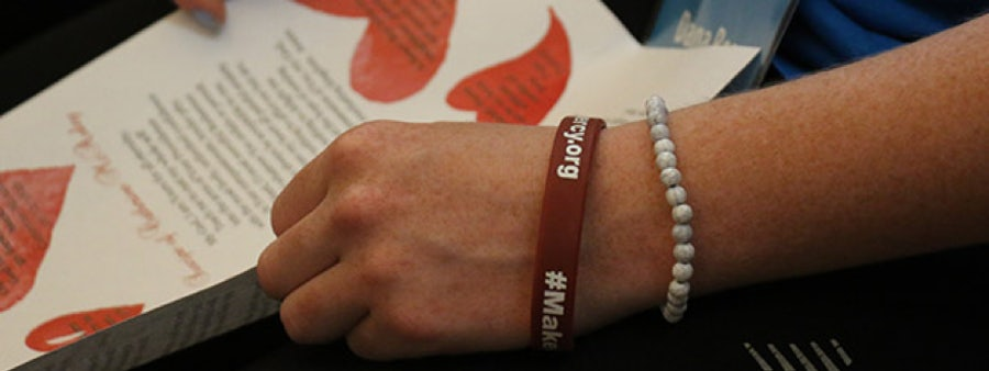 Mercy wristband and prayer sheet