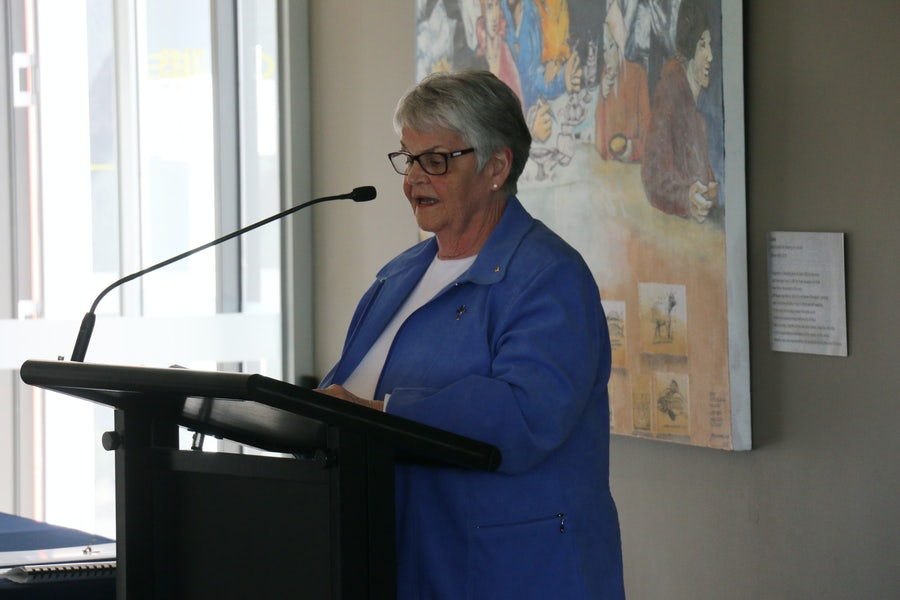 Kath Tierney rsm who launched the book