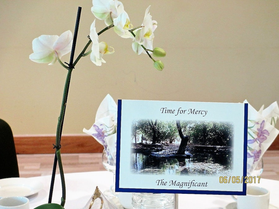 Table setting for the Magnificat