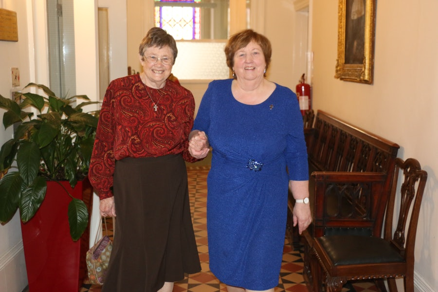 Mary Trainer (l) with Mary Reynolds rsm (r)