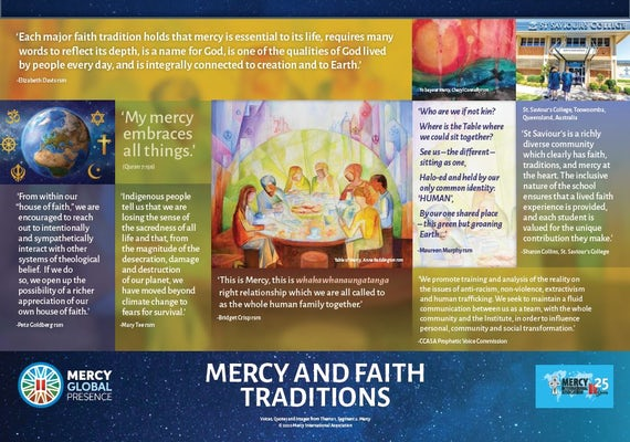 Poster One—'Faith Traditions and Mercy'