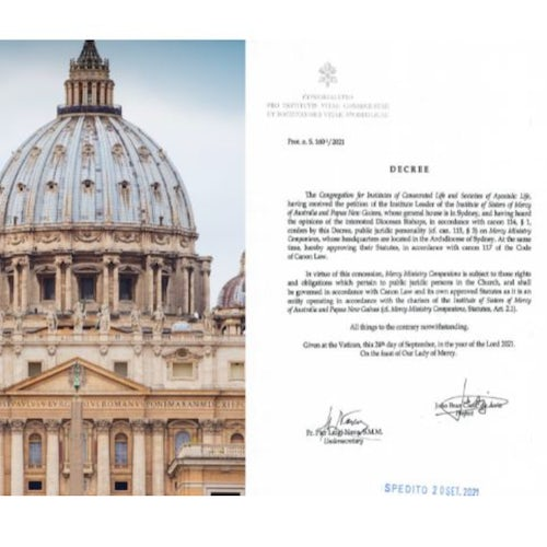 The Holy See Approves Mercy Ministry Companions