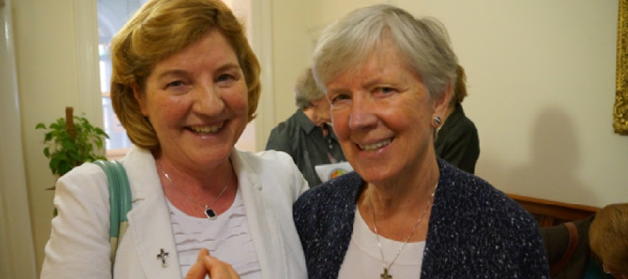Breege O'Neill rsm (The Congregation) and Mary Waskowiak rsm (Americas)