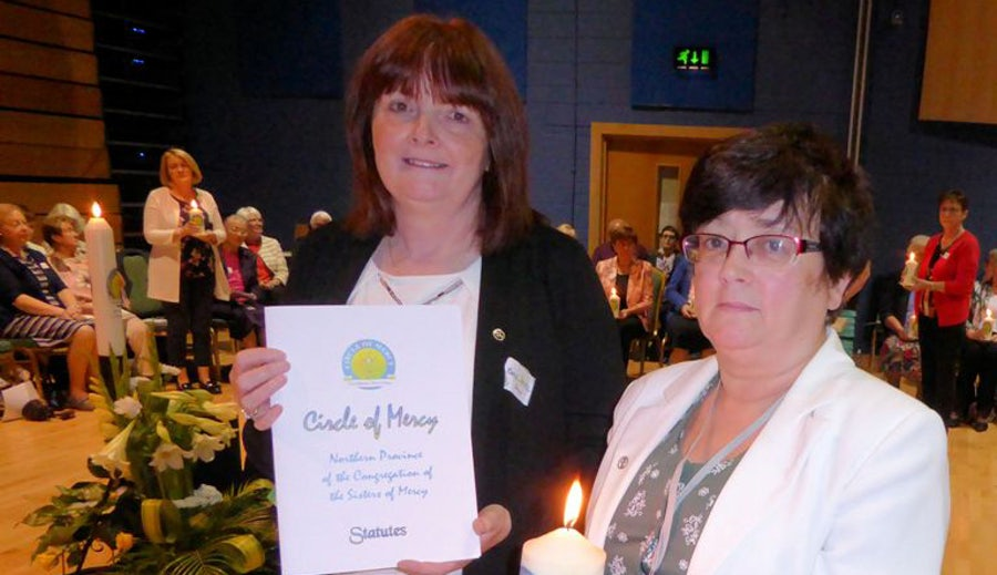 Presentation of Statutes and Candle to Derry Circle