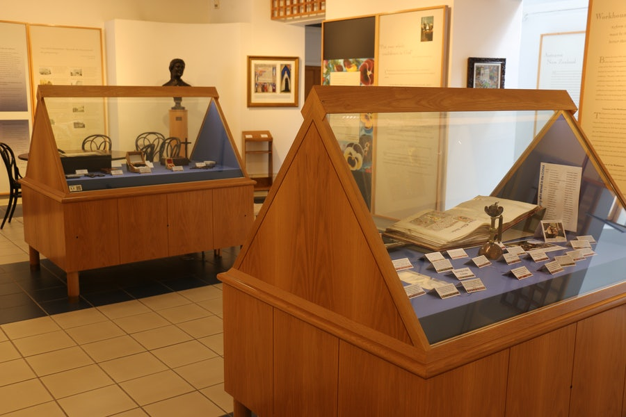 Display cases in the Heritage Room