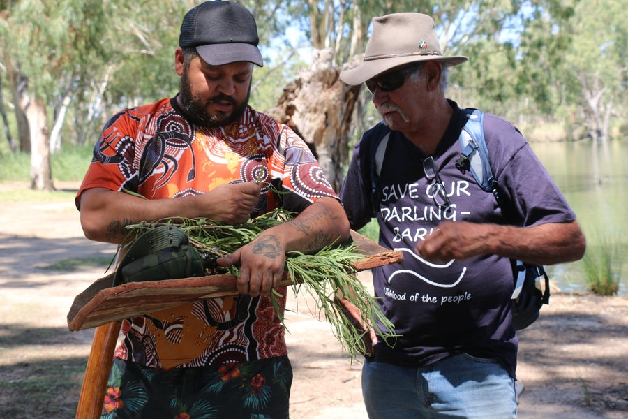 Paakantyi respected person Corey Payne and Uncle Badger Bates